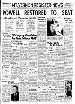 Mt. Vernon Register-News from Mt Vernon, Illinois on January 4, 1969 · Page 1