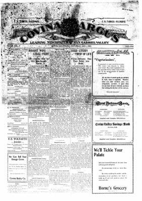 Covina Argus from Covina, California on January 3, 1909 · Page 1