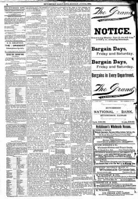 The Hutchinson News from Hutchinson, Kansas on June 6, 1892 · Page 2