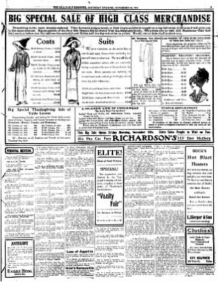 Iola Daily Register And Evening News from Iola, Kansas on November 16, 1912 · Page 3