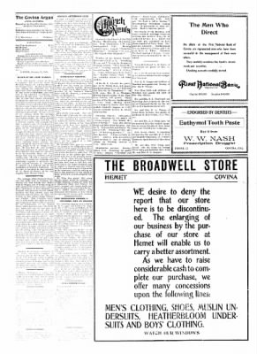 Covina Argus from Covina, California on January 23, 1909 · Page 4