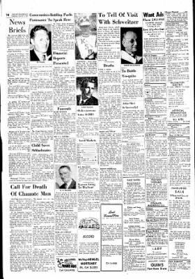 The Ottawa Herald from Ottawa, Kansas on October 5, 1961 · Page 14