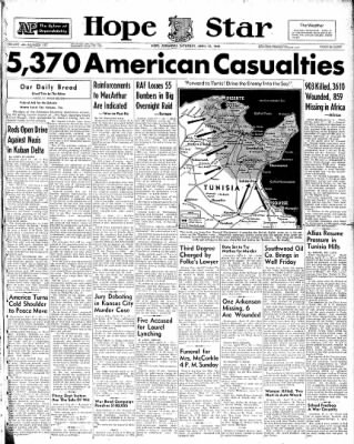 Hope Star from Hope, Arkansas on April 17, 1943 · Page 1