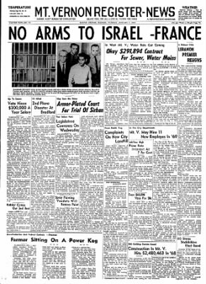 Mt. Vernon Register-News from Mt Vernon, Illinois on January 7, 1969 · Page 1