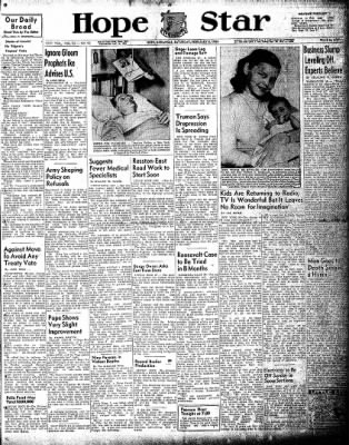 Hope Star from Hope, Arkansas on February 6, 1954 · Page 1
