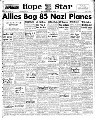 Hope Star from Hope, Arkansas on April 19, 1943 · Page 1