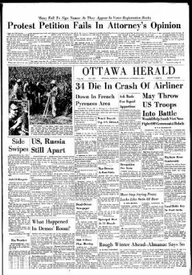 The Ottawa Herald from Ottawa, Kansas on October 7, 1961 · Page 1