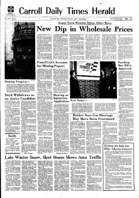Carrol Daily Times Herald from Carroll, Iowa on March 4, 1976 · Page 1