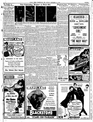 Cumberland Sunday Times from Cumberland, Maryland on September 24, 1944 · Page 15