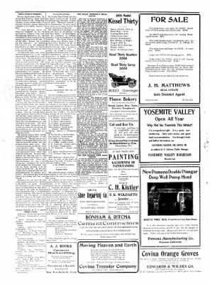 Covina Argus from Covina, California on March 13, 1909 · Page 1