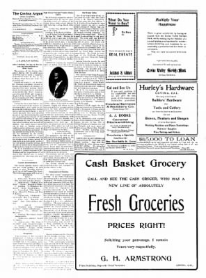 Covina Argus from Covina, California on March 27, 1909 · Page 4