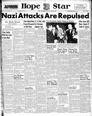 Hope Star from Hope, Arkansas on April 22, 1943 · Page 1