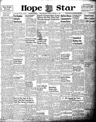 Hope Star from Hope, Arkansas on February 11, 1954 · Page 1