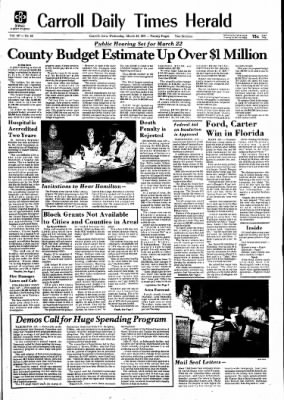 Carrol Daily Times Herald from Carroll, Iowa on March 10, 1976 · Page 1