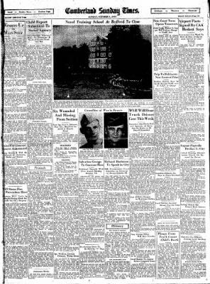 Cumberland Sunday Times from Cumberland, Maryland on October 1, 1944 · Page 13