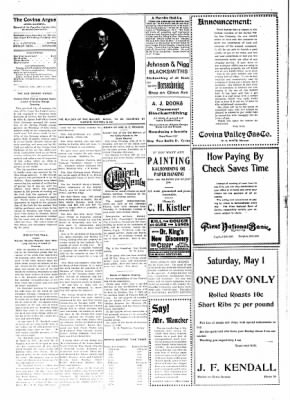 Covina Argus from Covina, California on May 1, 1909 · Page 4
