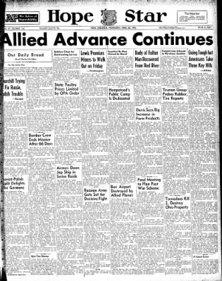 Hope Star from Hope, Arkansas on April 28, 1943 · Page 1