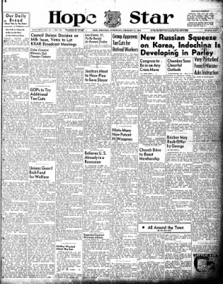 Hope Star from Hope, Arkansas on February 17, 1954 · Page 1
