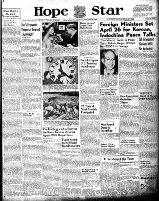 Hope Star from Hope, Arkansas on February 18, 1954 · Page 1