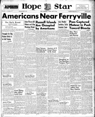 Hope Star from Hope, Arkansas on May 4, 1943 · Page 1