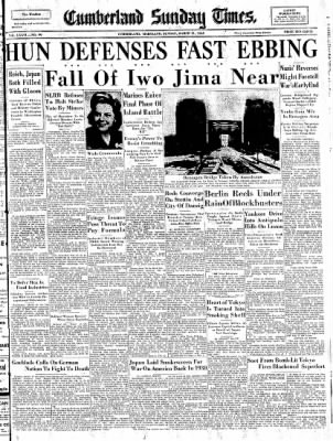 Cumberland Sunday Times from Cumberland, Maryland on March 11, 1945 · Page 1
