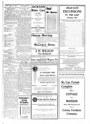 Covina Argus from Covina, California on July 10, 1909 · Page 7