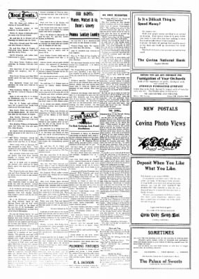Covina Argus from Covina, California on July 17, 1909 · Page 5