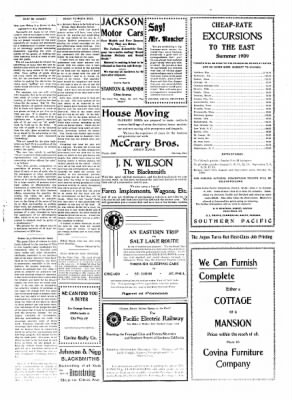 Covina Argus from Covina, California on July 24, 1909 · Page 7