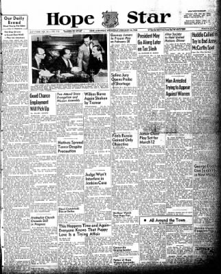 Hope Star from Hope, Arkansas on February 24, 1954 · Page 1