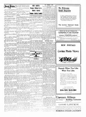 Covina Argus from Covina, California on August 7, 1909 · Page 5