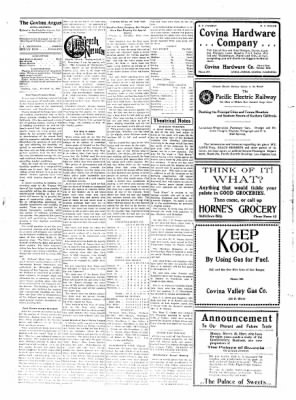 Covina Argus from Covina, California on August 14, 1909 · Page 2