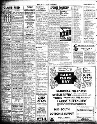 Hope Star from Hope, Arkansas on February 25, 1954 · Page 6