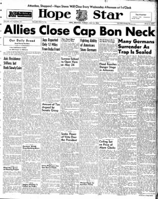 Hope Star from Hope, Arkansas on May 11, 1943 · Page 1