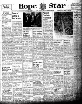 Hope Star from Hope, Arkansas on February 27, 1954 · Page 1