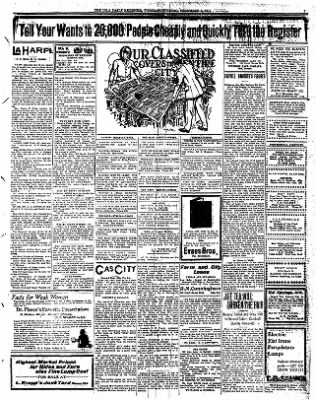 Iola Daily Register And Evening News from Iola, Kansas on December 5, 1911 · Page 7