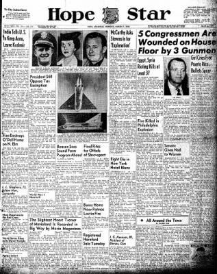 Hope Star from Hope, Arkansas on March 1, 1954 · Page 1