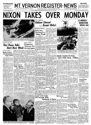 Mt. Vernon Register-News from Mt Vernon, Illinois on January 18, 1969 · Page 1