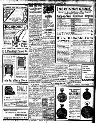 Iola Daily Register And Evening News from Iola, Kansas on December 6, 1911 · Page 5