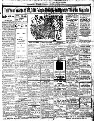 Iola Daily Register And Evening News from Iola, Kansas on December 6, 1911 · Page 7