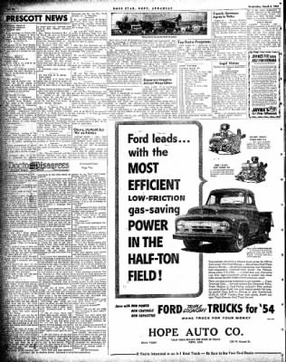 Hope Star from Hope, Arkansas on March 3, 1954 · Page 6