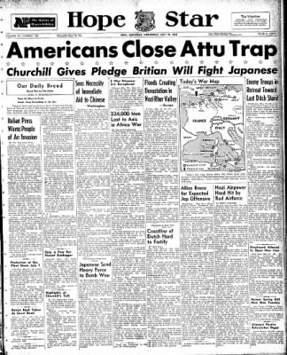 Hope Star from Hope, Arkansas on May 19, 1943 · Page 1