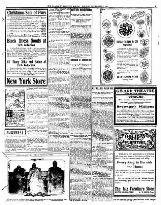 Iola Daily Register And Evening News from Iola, Kansas on December 11, 1911 · Page 3