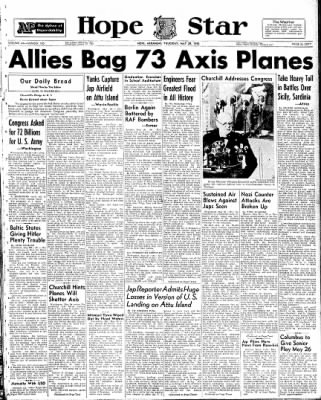 Hope Star from Hope, Arkansas on May 20, 1943 · Page 1