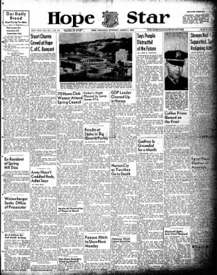 Hope Star from Hope, Arkansas on March 6, 1954 · Page 1