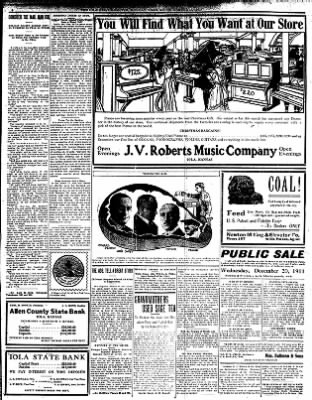 Iola Daily Register And Evening News from Iola, Kansas on December 18, 1911 · Page 6
