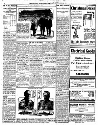Iola Daily Register And Evening News from Iola, Kansas on December 18, 1911 · Page 8