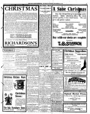 Iola Daily Register And Evening News from Iola, Kansas on December 21, 1911 · Page 3