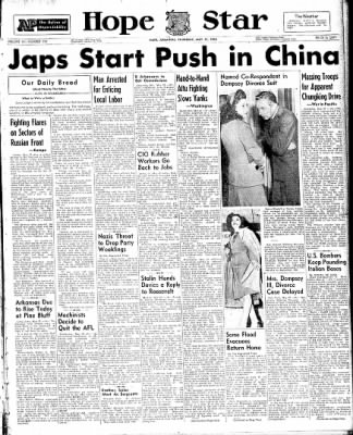 Hope Star from Hope, Arkansas on May 27, 1943 · Page 1