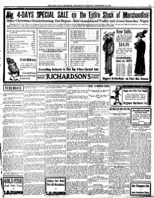 Iola Daily Register And Evening News from Iola, Kansas on December 27, 1911 · Page 3