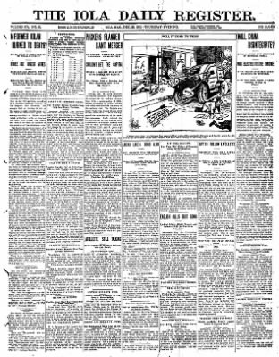 Iola Daily Register And Evening News from Iola, Kansas on December 28, 1911 · Page 1